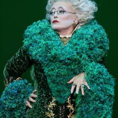 Rue McClanahan in Wicked as Madame Morrible on Broadway
