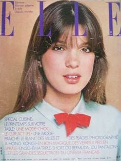 French Actress Eleonore Klarwein on the cover of Elle Magazine