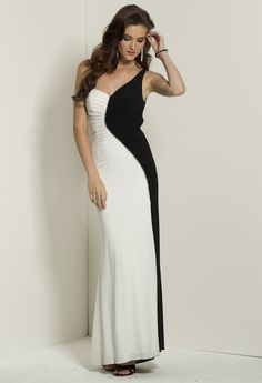 7cc263dd03  149 Two Tone Jersey Dress with Rhinestone Swirl from Camille La Vie and Group  USA Prom