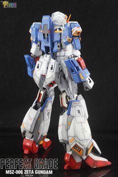 PG Zeta Gundam - Customized Build Modeled by Jon-K Zeta Gundam, Gundam Model, Mobile Suit, Transformers, Robots, Suits, Toys, Activity Toys, Robot