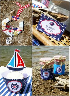 Rustic Nautical Party #AAE #PartyIdeas #Nautical www.ashleyadrienevents.com