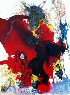 Salvador Dali (1904 - 1989) | Symbolism, Abstract Expressionism | Iesus a Satana tentatur (Mark 1:13) - 1964
