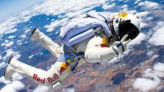 Amazing shots of Felix Baumgartner, the man who is attempting to freefall 23 miles from the Earth's upper atmosphere