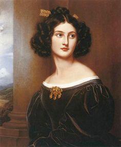 1829 Nanette Kaula by Joseph Karl Stieler (Schönheitengallerie Schloß Nymphenburg, München Germany)