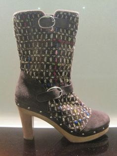 Shellys London heeled FABRIC CLOGG UK6.5/40   eBay