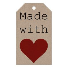 Made with Love Pack Of Gift Tags