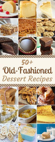 50 Old-Fashioned Dessert Recipes