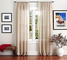 We use a variety of different linen fabrics for our curtains, including cotton and linen blends, Belgian flax linen and sheer linen. Description from potterybarn.com. I searched for this on bing.com/images