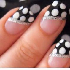 Polka dot nail design :)