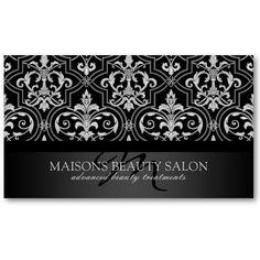 Damask Beauty Nail Hair Salon Business Card