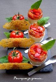 Panna cotta au parmesan, tomates-poivrons et tuiles poivrées : Etape 6
