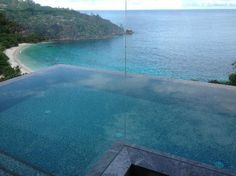 VIEW FROM FOUR SEASONS INFINITY POOL, SEYCHELLES!!