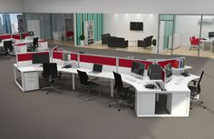 Exceptional Modern Office Space Layouts Part 4 - Workstation Office Layout Design Open Space Office, Office Space Design, Modern Office Design, Office Workspace, Office Designs, Office Spaces, Modern Offices, Office Table, Office Pods
