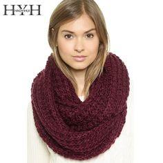 HYH HAOYIHUI 2017 Brand New Autumn Fashion Women Solid 4 Color Knitting Pullover Soft Warm Casual Scarf