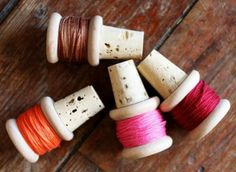 These spool winestoppers would be a perfect homemade gift for a Crafter! By A Beautiful Mess.