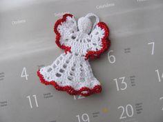 crochet angel christmas angel christmas tree by InKasTrifles