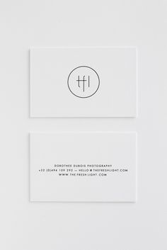 THE FRESH LIGHT   new logo and business cards! design by Studio Posen