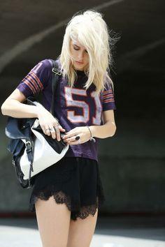 Shop this look on Kaleidoscope (shirt, shorts, backpack)  http://kalei.do/WrP5IX6yJdH65zS8