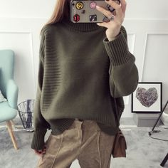 Find More Pullovers Information about H.SA Turtleneck Sweater 2016 Women Winter Warm Knitted Pullovers Solid Casual Loose Slim Sweater Long Sleeve pull femme hiver,High Quality sweater style,China sweater guard Suppliers, Cheap sweater white from Summer Fashion Costume CO.,LTD on Aliexpress.com