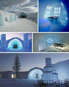 Amazing Hotel of ice in Jukkasjätvi, Suecia.