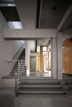 Exposed concrete becomes a wonderful aesthetic feature, giving interiors their cool sense of style.