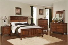 Acme Harvest California King Panel Bed in Cherry 19434CK