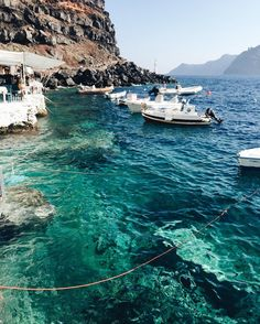 Finding The Perfect Beach Vacations Pictures of Santorini That Will Make You Want to Travel - PureWow Places To Travel, Travel Destinations, Places To Visit, Dream Vacations, Vacation Spots, Beach Vacations, Places Around The World, Around The Worlds, Greece Travel