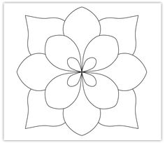 zentangle quilt patterns | simple flower pattern please click to zoom embellished flower pattern