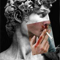 Black Aesthetic Wallpaper, Aesthetic Iphone Wallpaper, Aesthetic Wallpapers, Psychedelic Art, Aesthetic Grunge, Pink Aesthetic, Aesthetic Statue, Greek Statues, Historical Art
