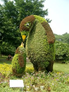 Data Anxiety — Mother-and-child scene in a Guangzhou topiary. I...