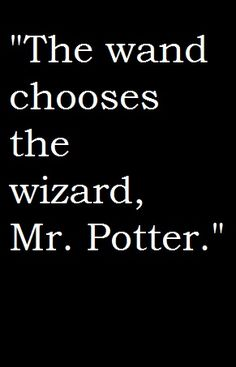 """HARRY POTTER QUOTE: """"The wand chooses the wizard, Mr. Potter."""" #quote #fantasy #wizard"""