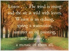 autumn people with autumn thoughts....ray bradbury.