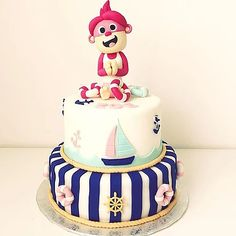 Monita Náutico Birthday Cake, Desserts, Kids, Tailgate Desserts, Young Children, Deserts, Boys, Birthday Cakes, Postres
