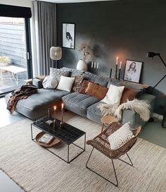 Loft Inspiration // Loft Interior The Perfect Scandinavian Style Home Home Living Room, Apartment Living, Living Room Designs, Living Room Decor, Kitchen Living, Nordic Living Room, Living Room Inspiration, Home Decor Inspiration, Decor Ideas