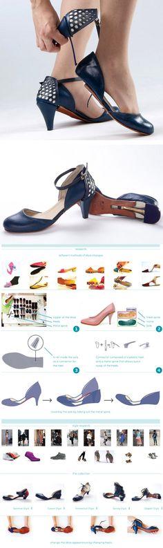 A designer Daniela Bekerman criou o Ze o Ze Shoes, um sapato feminino inovador que reúne em um só produto um sapato de salto alto, uma sapatilha e acessórios para serem colocados na parte de  traseira do calçado transformando completamente o estilo e design do produto.
