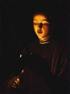 The Young Singer - Choirboy -Georges de La Tour (1593 – 1652, French)