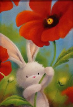 bunny and flower.
