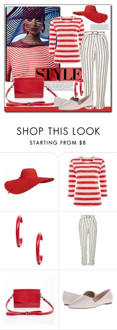 """""""Look for Less"""" by littlefeather1 ❤ liked on Polyvore featuring Giorgio Armani, Kim Rogers, Topshop, Zatchels, Franco Sarto, LookForLess and polyvoreeditorial"""