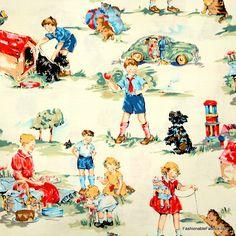 Fabric... Dick and Jane Alexander Henry Fabrics
