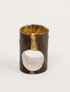 Ring | Stefano Zanini.  Iron, silver and 18kt gold