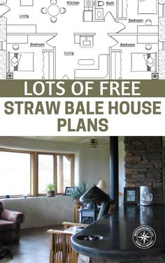 A Collection Of FREE Straw Bale House Plans — Straw bale houses are a cheaper option to normal constructed houses, this is a great way to save lots of money and have a great insulated house once its built. #shelter #preparedness #prepping #shtf #survival