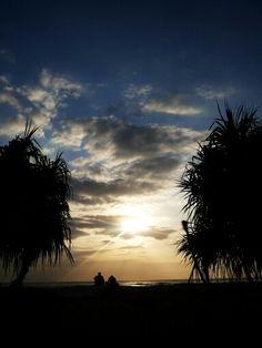 Enjoying sunsets in Gili Terawang