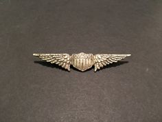World War 1 Era Sterling Silver U.S Aviator Wings Stamped on Back Tiffany & Company