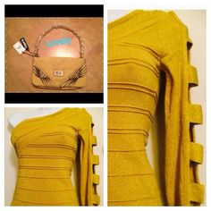 STEAL OF THE DAY🌾Soft mustard purse🌾Gorgeous😍 This purse is Beautiful!! SO MUCH BETTER IN PERSON!!😍 Buttery leather feel. Gorgeous soft mustard color w/ gold accents & chain strap. Comes with matching ( more casual appearance strap as well). Brand New in original packaging.💠Final Reduction💠 Emperia Bags