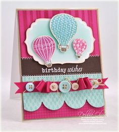 Birthday Balloons Card by Debbie Olson for Papertrey Ink (June 2010)