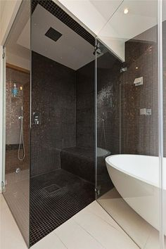 la douche l 39 italienne avec banc deco int rieure pinterest maison. Black Bedroom Furniture Sets. Home Design Ideas
