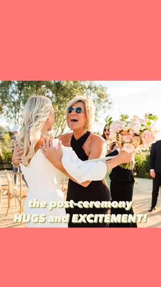 """must-have candid wedding photos: part 1 You MUST capture the post-ceremony hugs and excitement with all the """"just married"""" feels!"""
