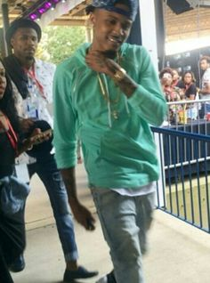 August Alsina after his performance at the Stone Soul