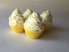 Lemon Soap Cupcakes, one of the sellers from Sawdust Soaps at Etsy Craft Party Augusta