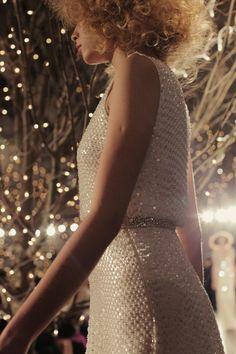 Sparkling embellishment at Jenny Packham Fall 2014 (instagram @the_lane)